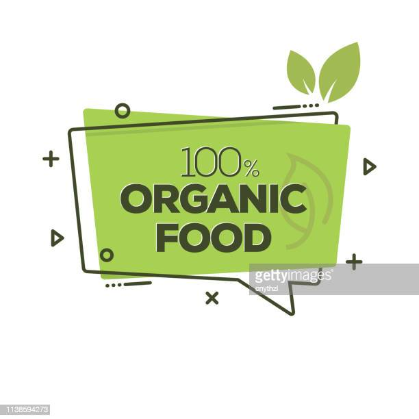 organic food badge - ecosystem stock illustrations
