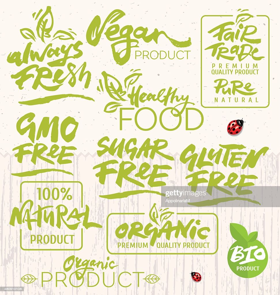 Organic Food Calligraphy
