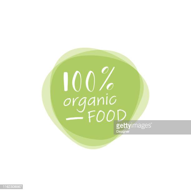 organic food labels and elements - natural condition stock illustrations, clip art, cartoons, & icons