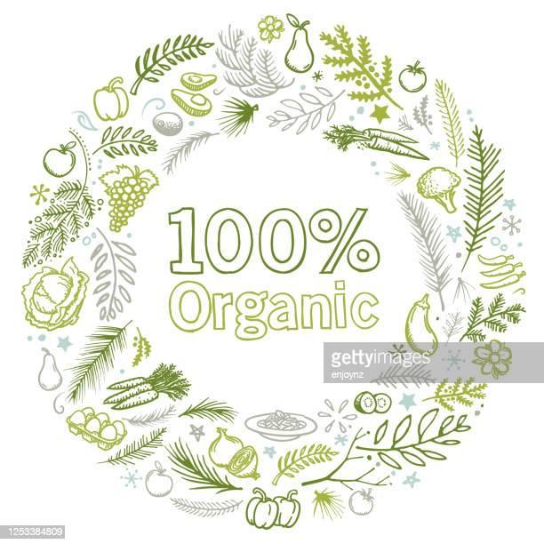 organic gardening illustration - garden drawing stock illustrations