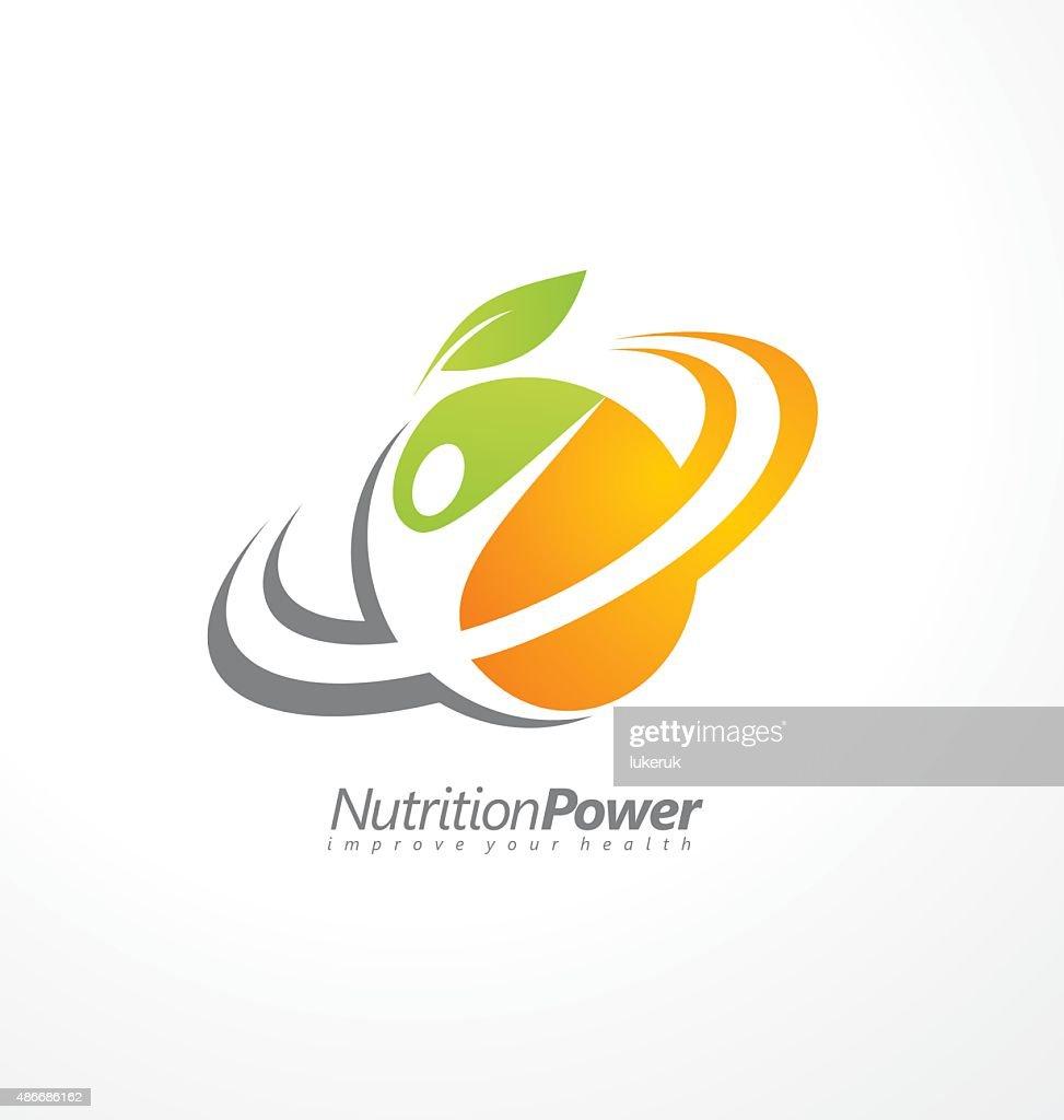 Organic Healthy Food creative symbol layout