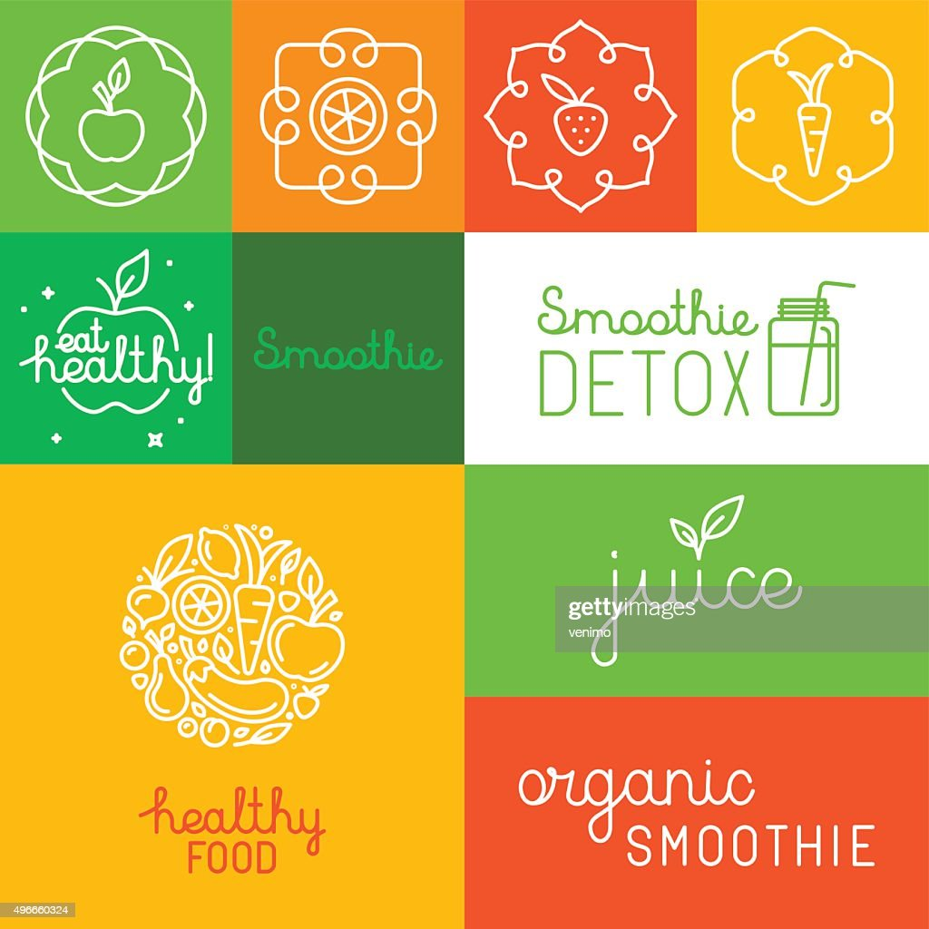 Organic juice - packaging design elements