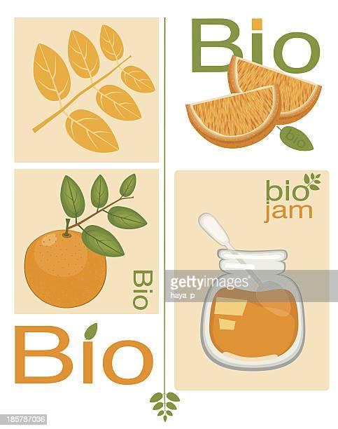 organic marmalade and oranges - marmalade stock illustrations, clip art, cartoons, & icons