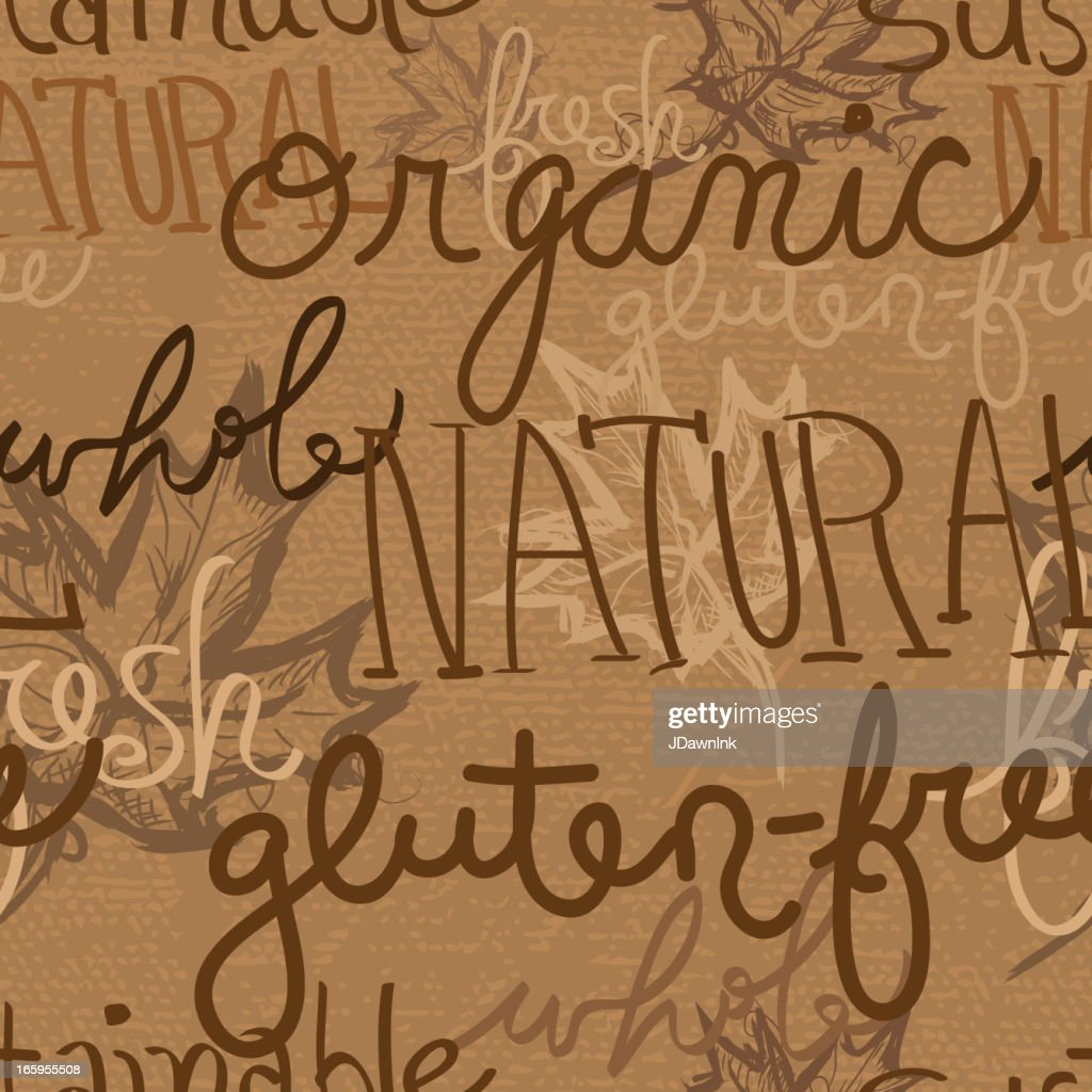 Organic natural product seamless background