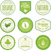 Organic product badges