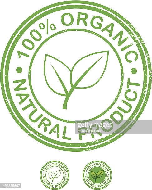 organic product grunge stamp - organic stock illustrations, clip art, cartoons, & icons