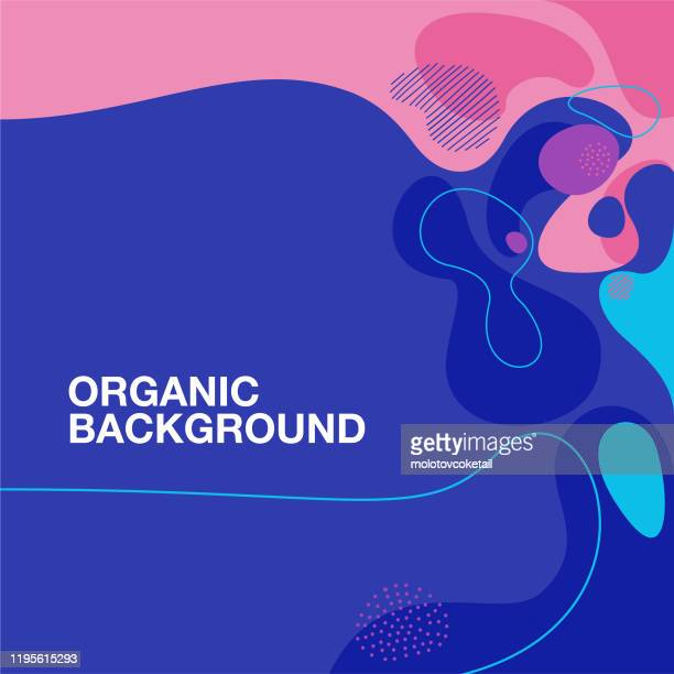 organic shape pattern background - fractal stock illustrations