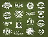 Organic vector logo set.