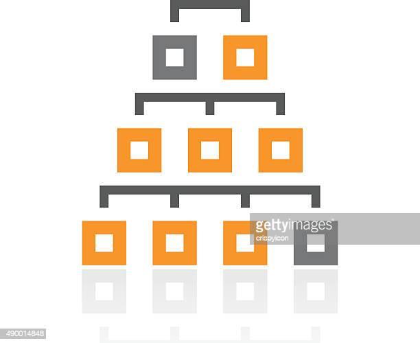 Organization Chart icon on a white background. - Pro Series