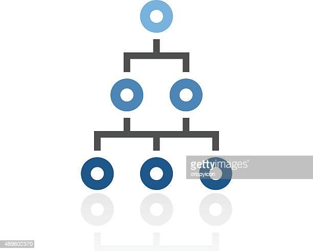 Organization Chart icon on a white background. - Royal Series