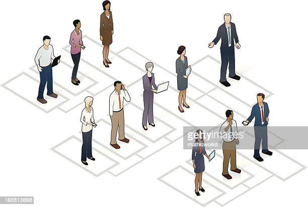 organizational chart - office politics stock illustrations, clip art, cartoons, & icons