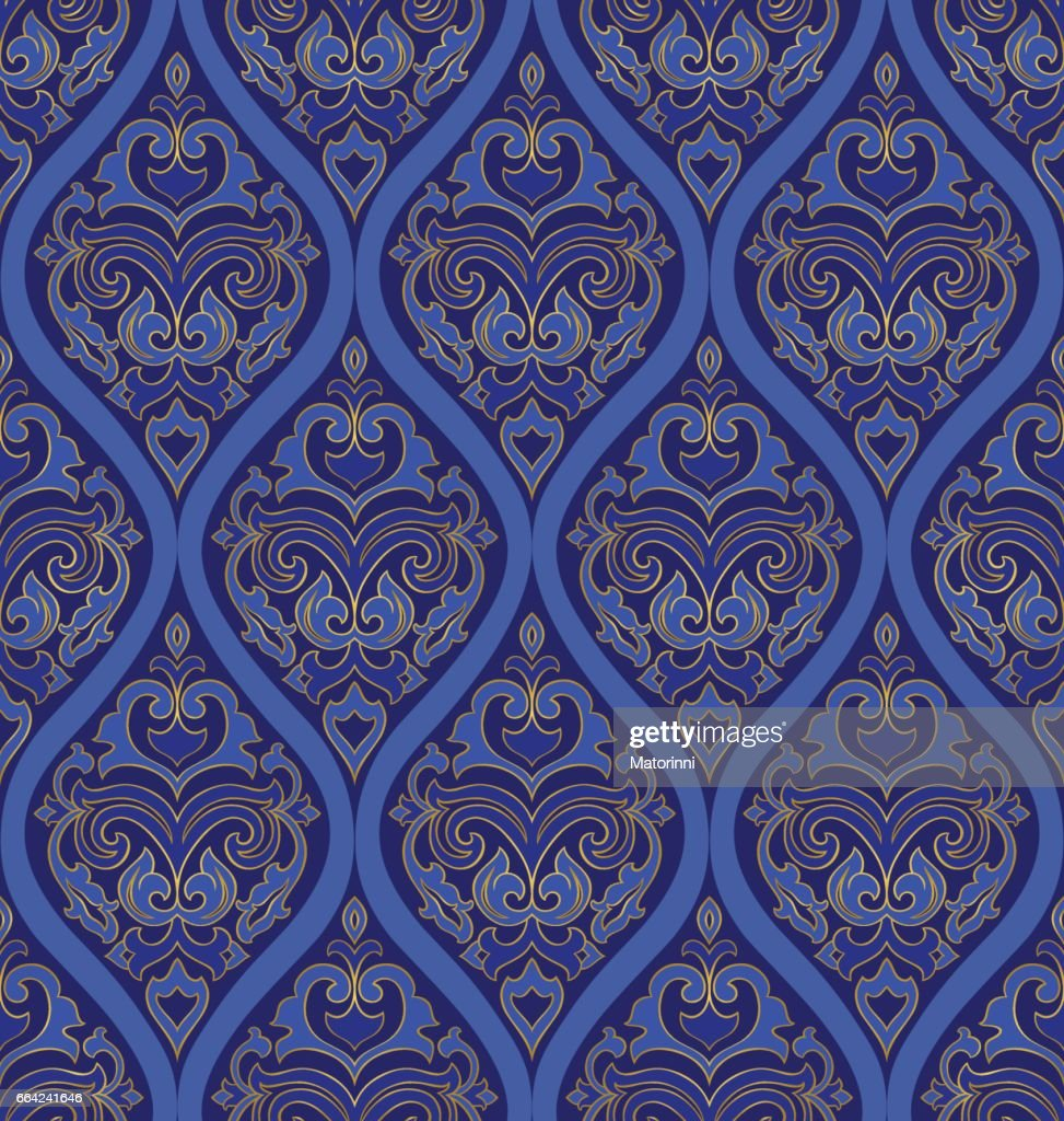 Oriental blue ornament.