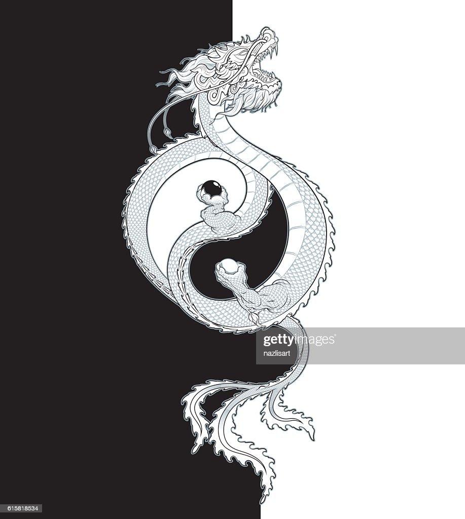 Oriental Dragon Yin-Yang