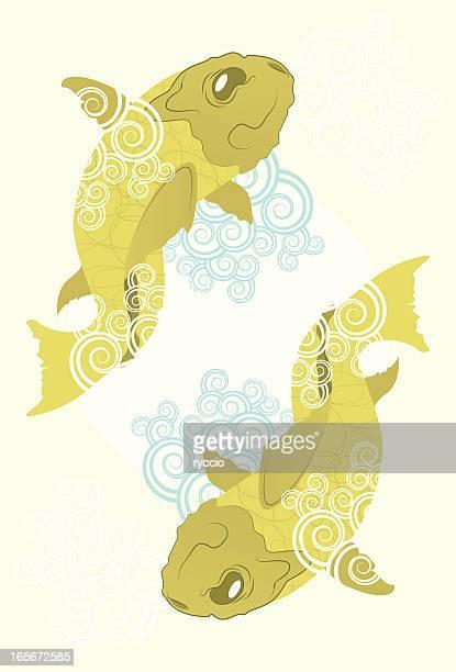 Oriental fish ornaments