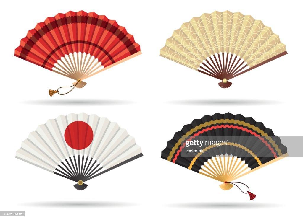 Oriental japan fan set