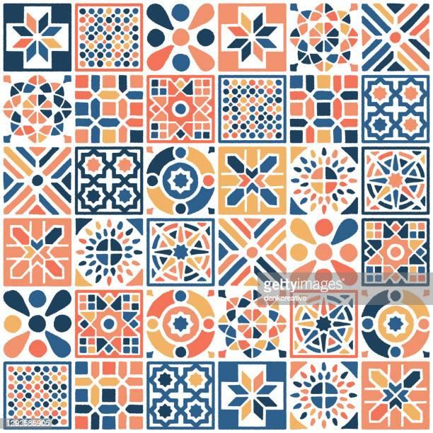ilustrações, clipart, desenhos animados e ícones de padrão oriental marroquino sem emenda - cultura espanhola