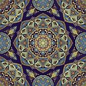 Oriental pattern in blue colors.