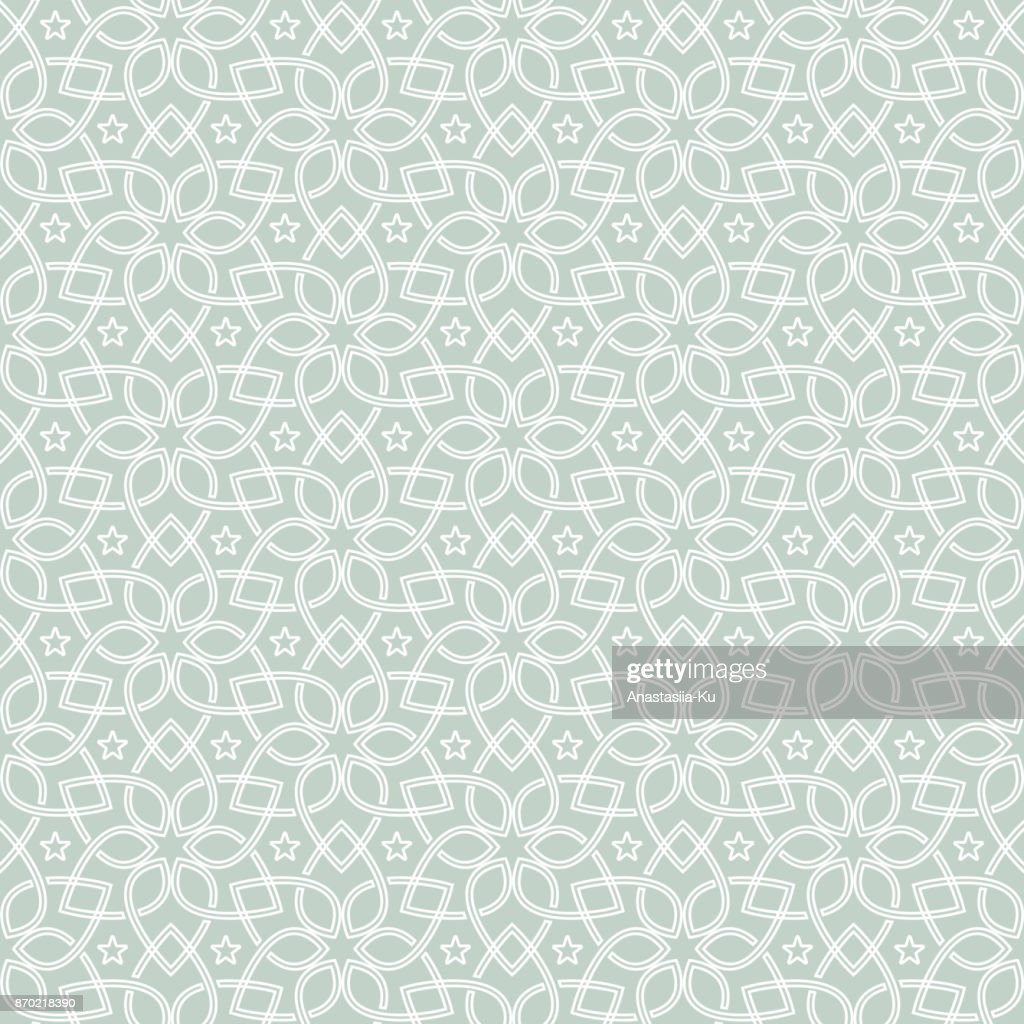 Oriental Seamless Pattern. Seamless geometric flower design