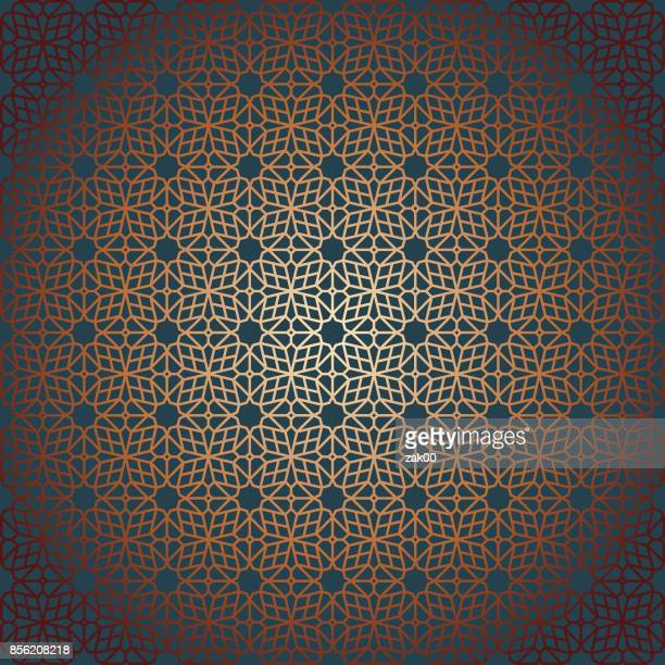 oriental seamless pattern - painted image stock illustrations