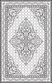 Oriental template for carpet.
