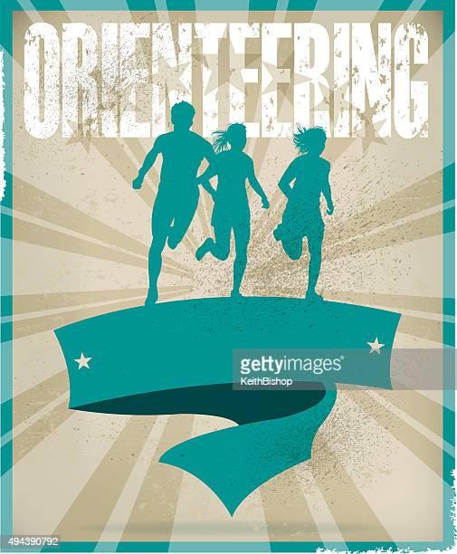 Orienteering Banner Background, Track Event