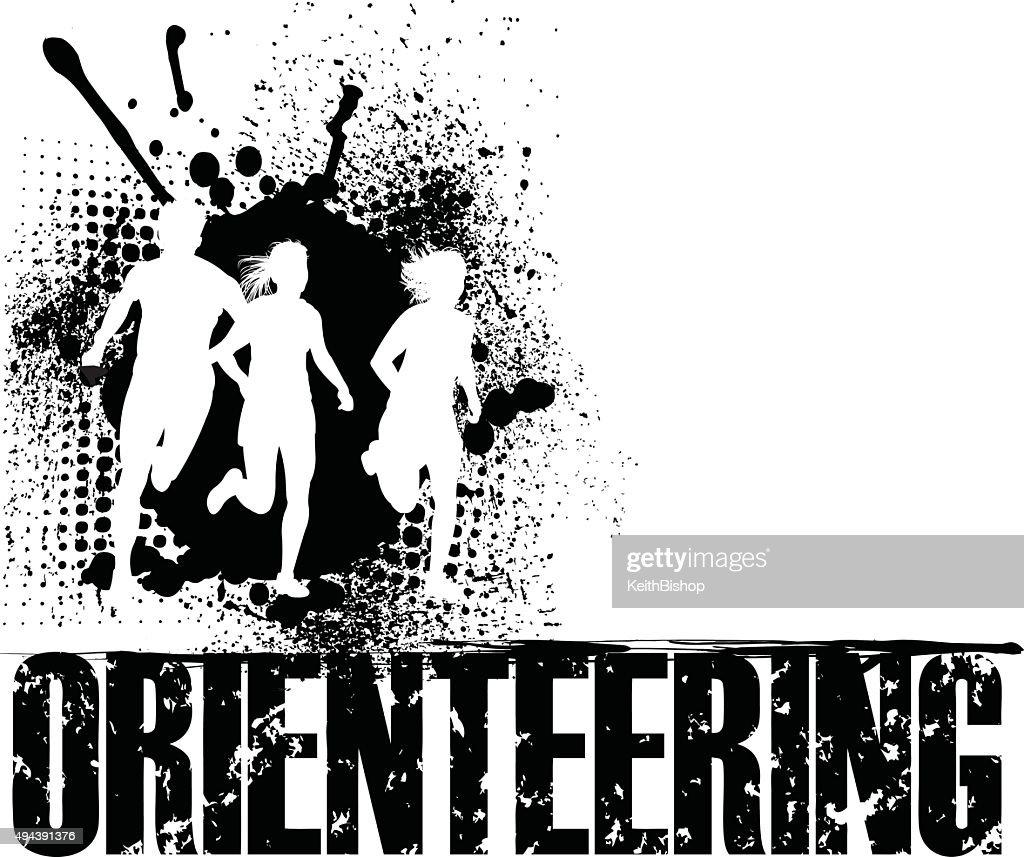 Orienteering Grunge Background, Track Event