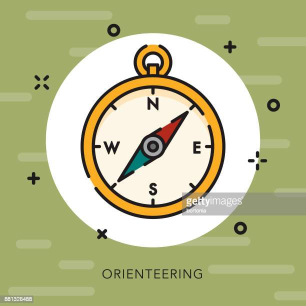 Orienteering Open Outline Camping Icon