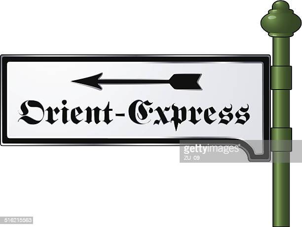 Orient-Express - Nostalgic metal sign from the Victorian era