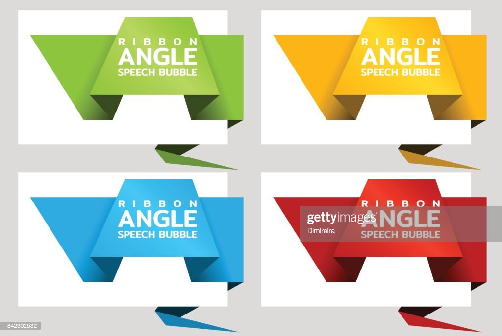 origami angle paper banners like speech bubble price tag template