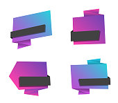 origami banner set