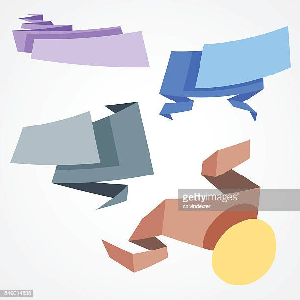 origami banners and ribbons - {{relatedsearchurl('racing')}} stock illustrations, clip art, cartoons, & icons