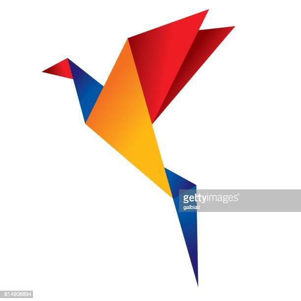 origami bird 2 - origami stock illustrations