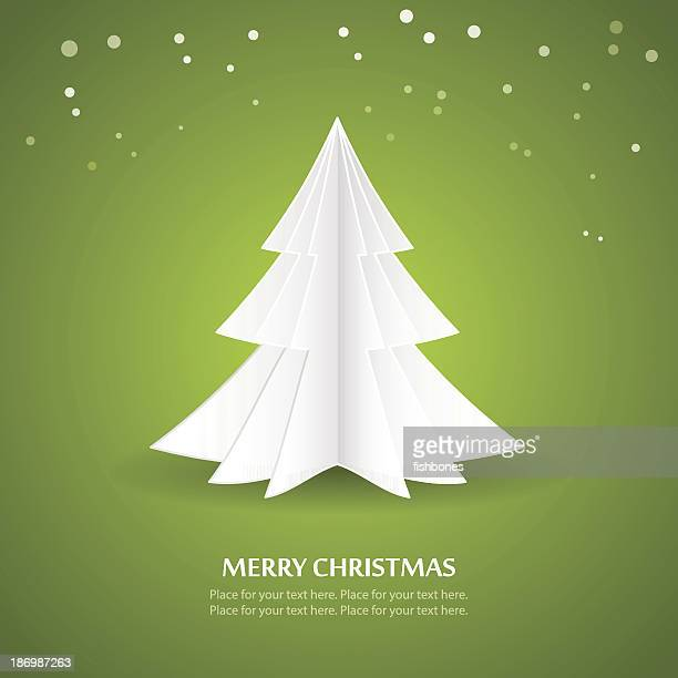 origami christmas tree - origami stock-grafiken, -clipart, -cartoons und -symbole