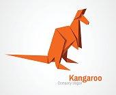 origami kangaroo logo