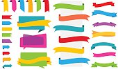 Origami Labels Banners Stickers