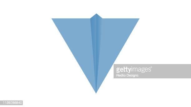 origami plane icon - aviator's cap stock illustrations