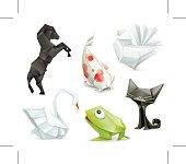 Origami set  icons