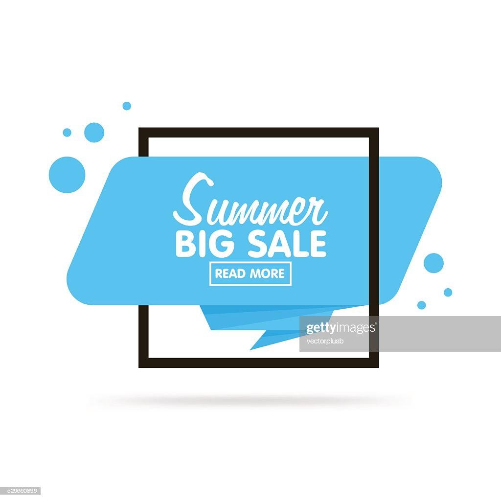 Origami style sticker and banner tamplate. Isolated on white background.
