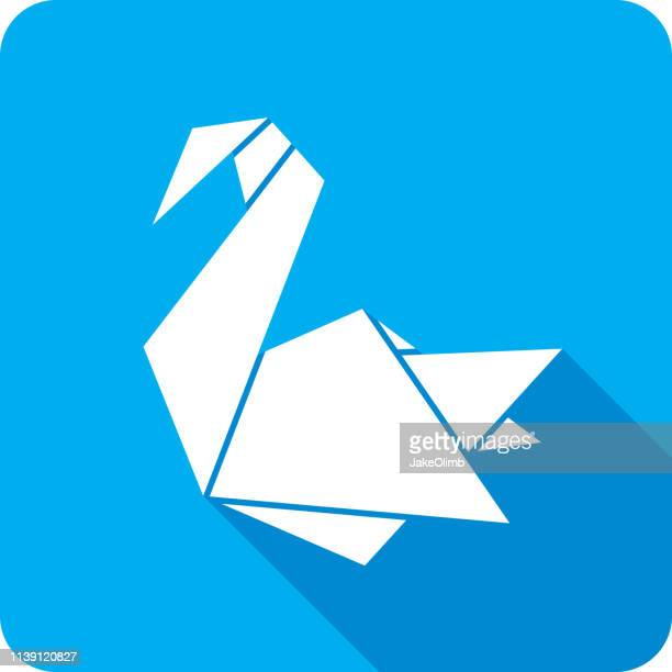 Origami Swan Icon Silhouette