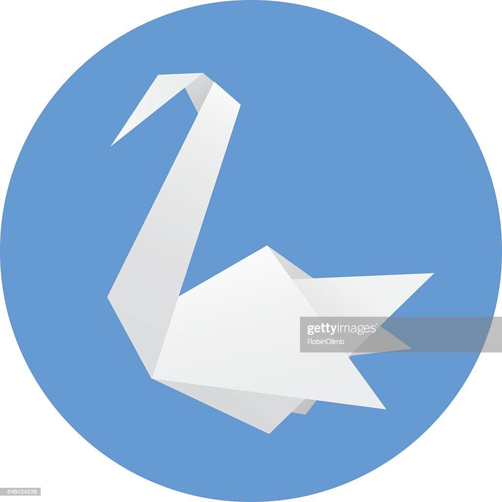 Origami Swan Vector Art