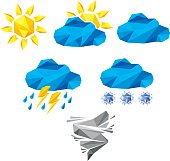 Origami weather icons