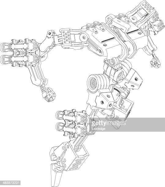 ilustraciones, imágenes clip art, dibujos animados e iconos de stock de diseño original robot [ ilustración marco ] - personas cabeza grande