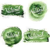 Original hand lettering Natural and eco design elements. Handmad
