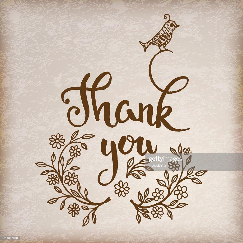 Original handwritten text 'Thank you'