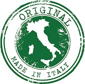 Original Made in Italy Vector Stamp