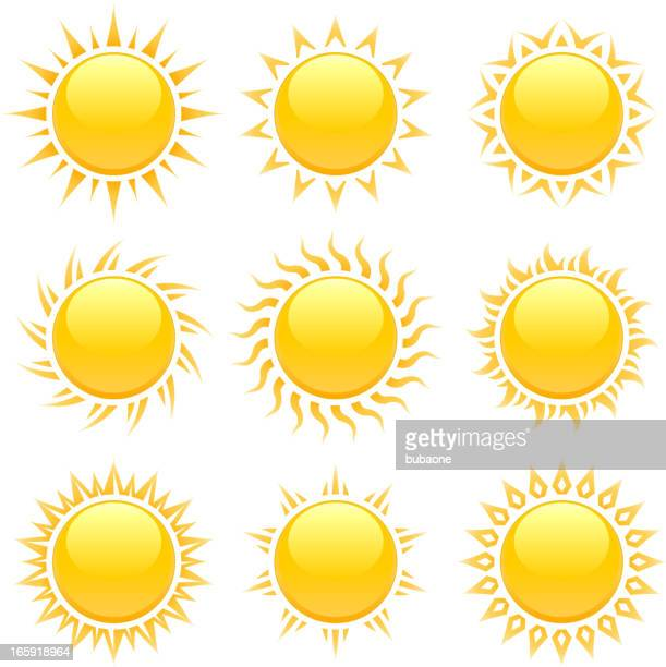 original summer sun designs with glowing rays