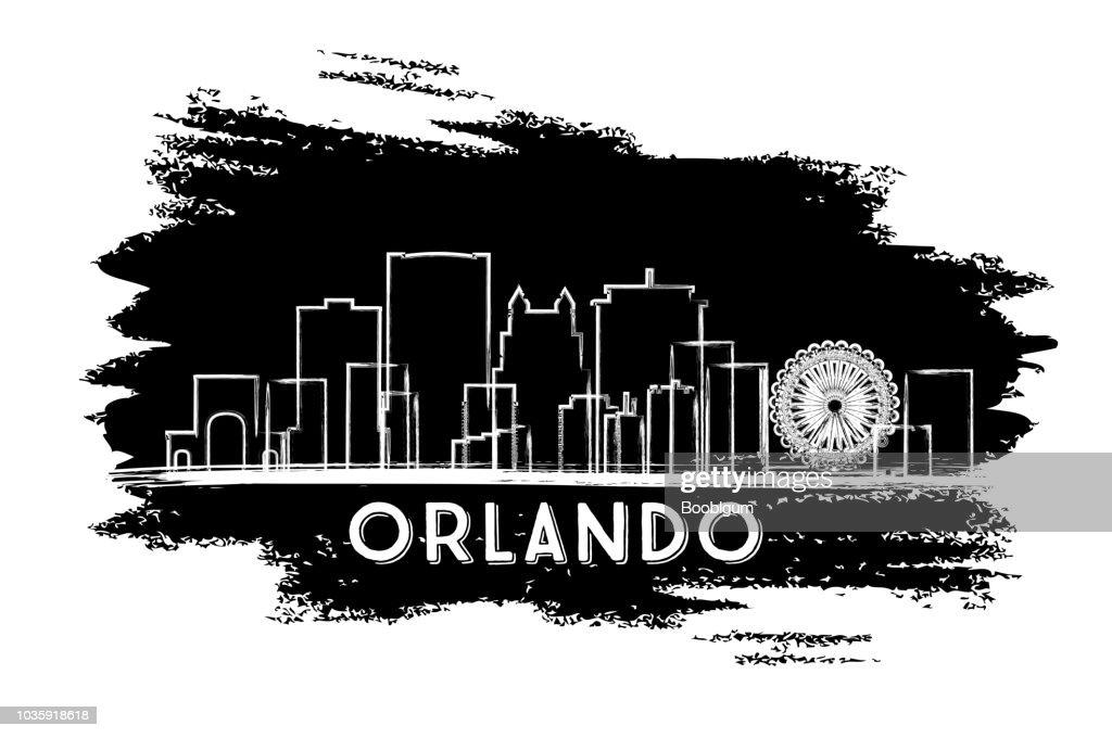 Orlando Florida City Skyline Silhouette. Hand Drawn Sketch.