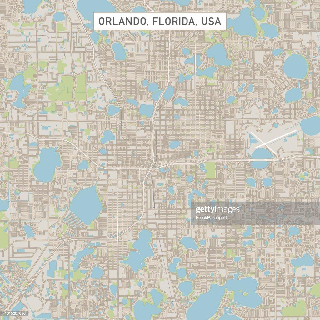 Orlando Florida US City Street Map