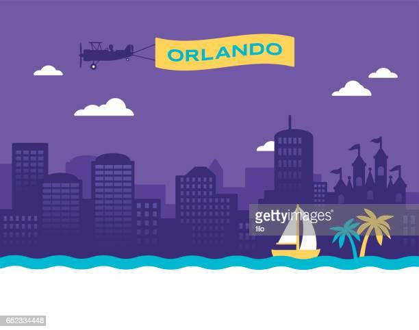orlando skyline - southern usa stock illustrations, clip art, cartoons, & icons