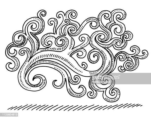 Dekoration-Swirl Ornament Muster Zeichnung